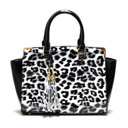 Fashion Handbag with cheetah print