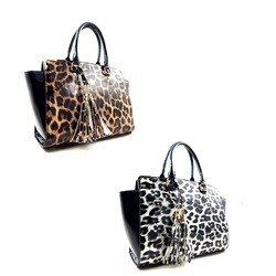 Fashion Handbag with cheetah print (set)