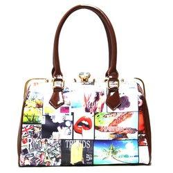 Fashion Magazine Print Handbag