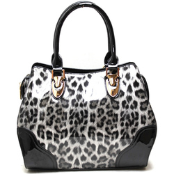 Fashion Handbag w Leopard Print