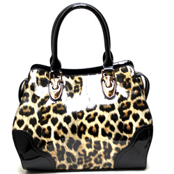 Fashion Handbag w/Leopard Print