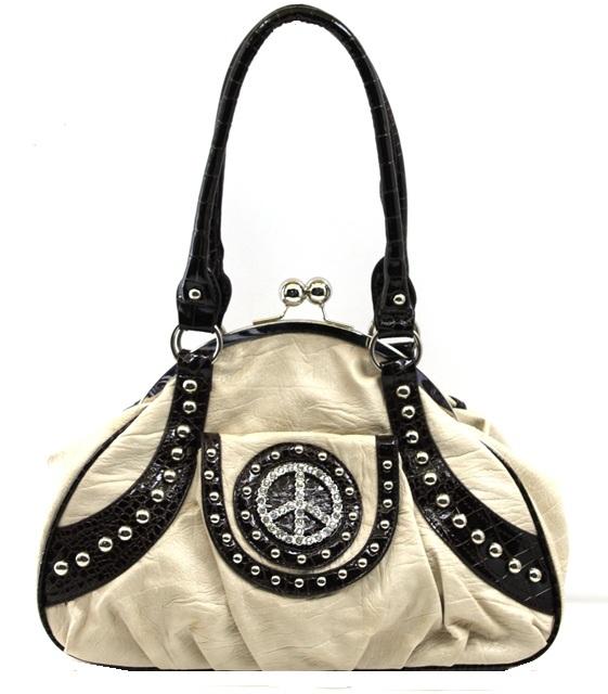 Peace Sign Western Handbag